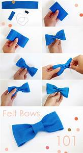 diy felt bows bow ties pepper design blog With felt bow tie template