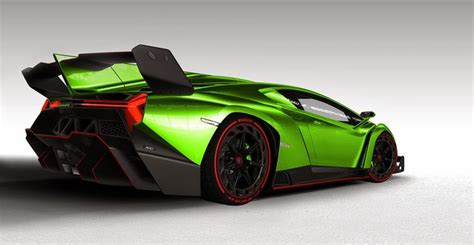 lamborghini veneno roadster green  side viewjpg