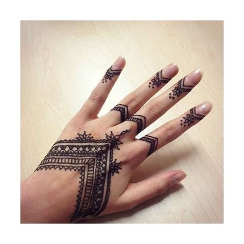pics  finger henna tumblr   polyvore featuring tattoos polyvore finger henna