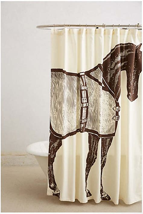 equine shower hit the showers shower curtains with whimsy juvenile