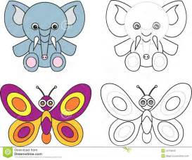 Kids Coloring Book Butterfly