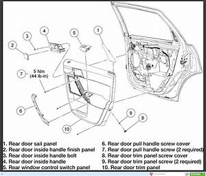 Removing Rear Door Handle On 2008 Ford Focus Ses  No