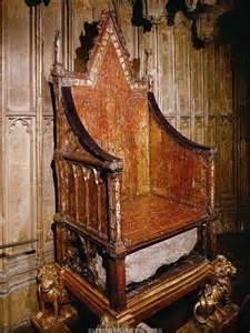 the coronation chair with the stone of scone chair