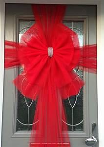 Buy, Red, Deluxe, Door, Bow, Christmas, Red, Door, Bow