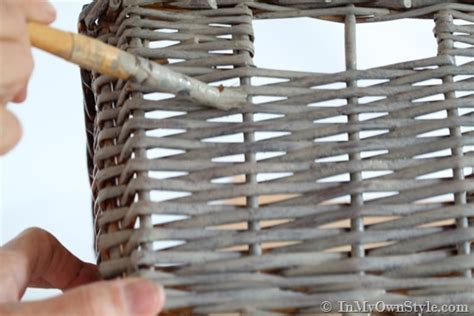 how to create an aged driftwood finish baskets in my own style