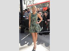 Ashley Roberts busty and leggy in a hot flowing mini dress