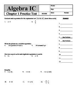 holt algebra 2 chapter 7 test form a answers holt algebra chapter 1 quot foundations of algebra quot practice