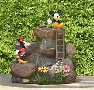 disney mouse cascading fountain playful outdoor decor at