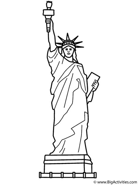 statue  liberty  theme coloring page memorial day