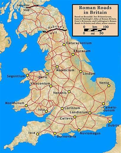 Roman Roads Britannia Britain Wikipedia