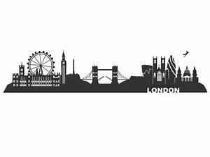 London Skyline Schwarz Weiß : wandtattoo london skyline haupstadt england ~ Watch28wear.com Haus und Dekorationen