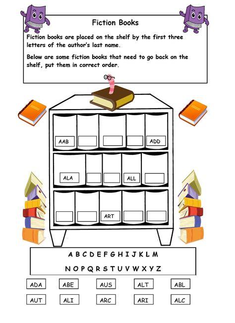 alphabetical order on the shelf worksheet library