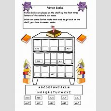 Alphabetical Order On The Shelf  Worksheet  Library Skills  Pinterest  Alphabetical Order