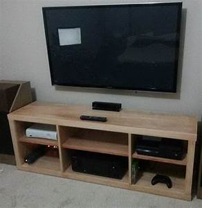 How to build a simple diy tv stand using wood for Homemade tv furniture