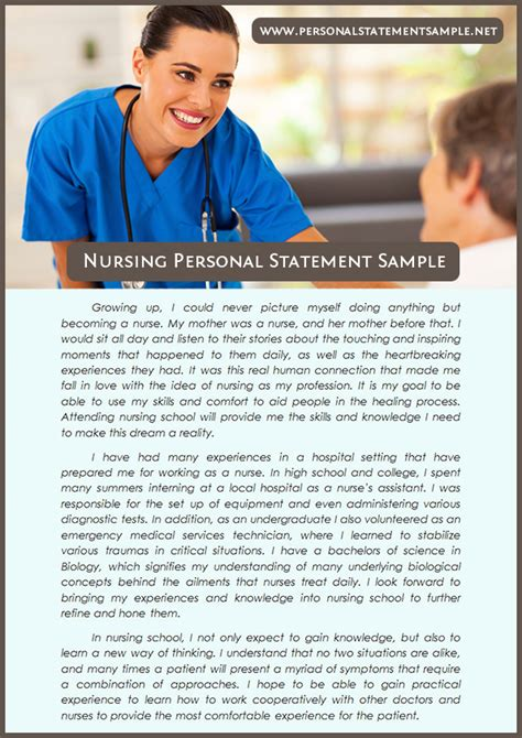 craft your statement with nursing personal statement exles