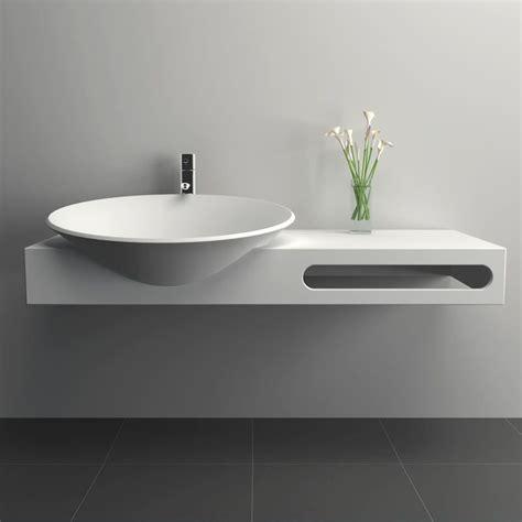 meuble salle de bain suspendu 100x54 cm mati 232 re composite mineral