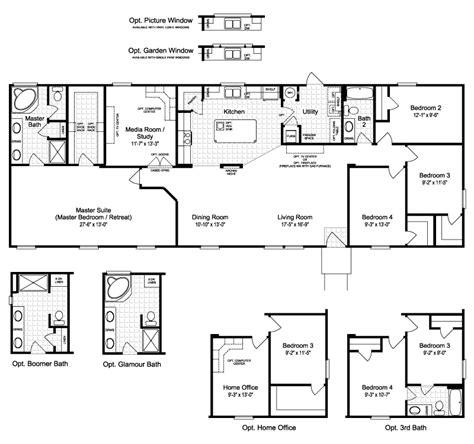 harbor house iii fta manufactured home floor plan