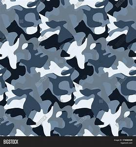 Abstract Military Blue Camouflage Image & Photo | Bigstock