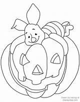 Halloween Coloring Pages Disney Pumpkin Piglet Disneyclips Pdf Inspiration Albanysinsanity sketch template