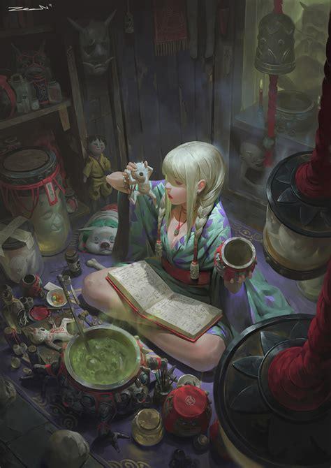 elegant colorful chaos  zeen chins digital paintings