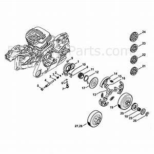 stihl ms 261 chainsaw ms261 parts diagram oil pump clutch With stihl fuel pump