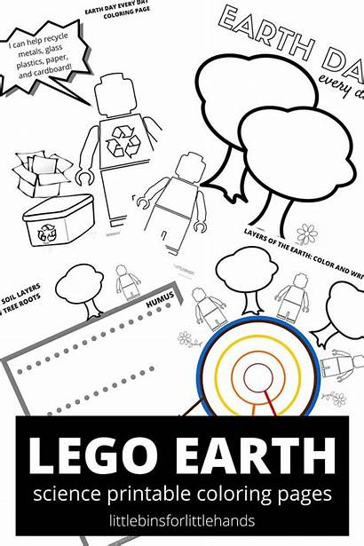 Earth Coloring Pages Science Lego Sheets Printable