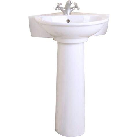 home depot corner sink pegasus evolution corner pedestal combo bathroom sink in