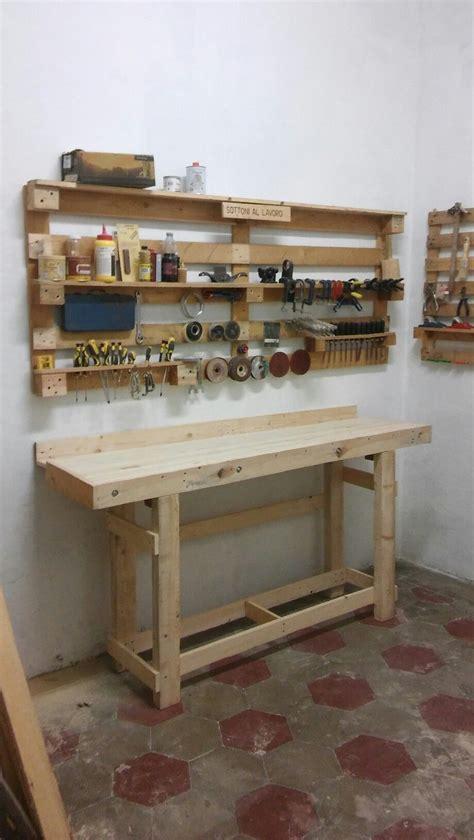 banco da lavoro  legno  pallet tavoli da lavoro
