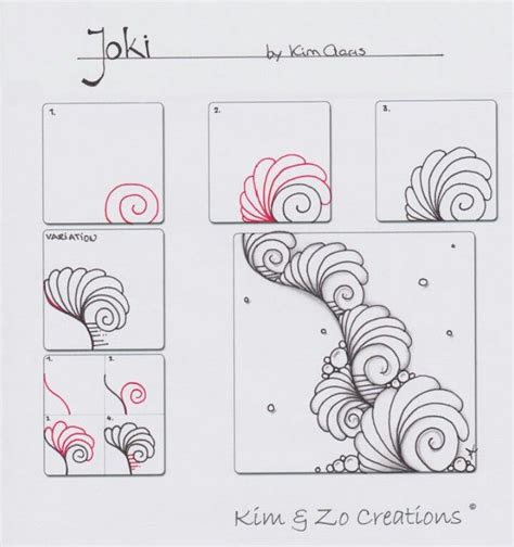 zentangle tutorials step tutorial doodle zentangles pattern daily