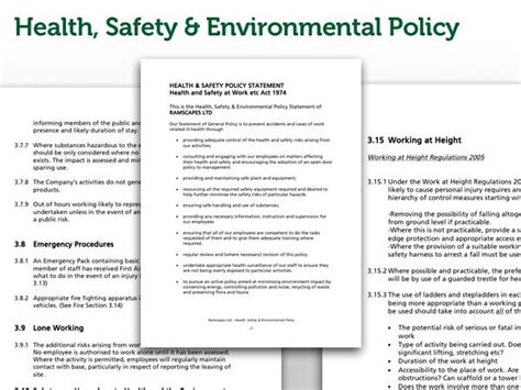 Ehs Policy Template - Costumepartyrun