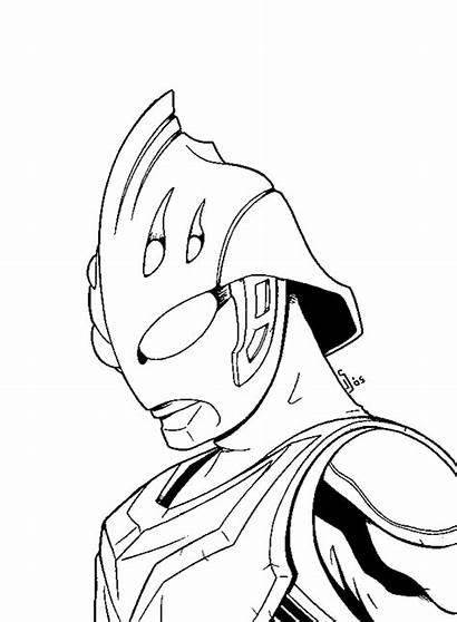Mewarnai Ultraman Gambar Kartun Sketsa Lukisan Nexus