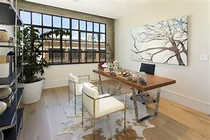Innovative animal skin rugs in Home Office Contemporary