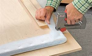 Wandverkleidung Mit Stoff : betthaupt selber bauen einrichten mobiliar ~ Markanthonyermac.com Haus und Dekorationen