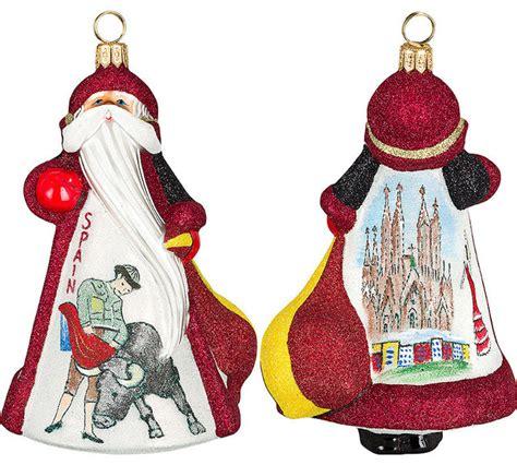 traditional christmas decorations in spain glitterazzi international spain santa ornament traditional decorations