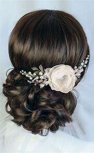 Bridal Hairstyles Inspiration Ivory Bridal Hair Flower