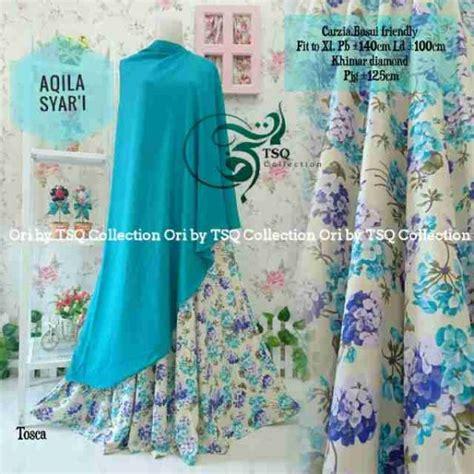 Harga Gamis Merk Aqila gamis motif bunga aqila syar i model baju muslim