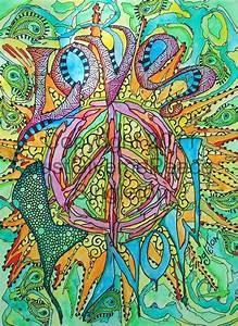 Love Peace hippie art design. | ☮ Art ~ Hippie | Pinterest ...