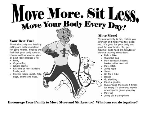 move more | Get fit, Take the stairs, Physical activities
