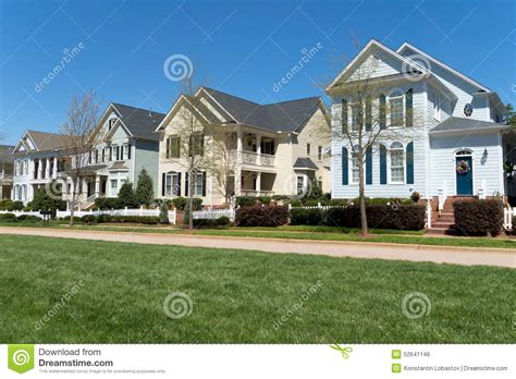 Residential Neighborhood Street Stock Photo  Image 52641146