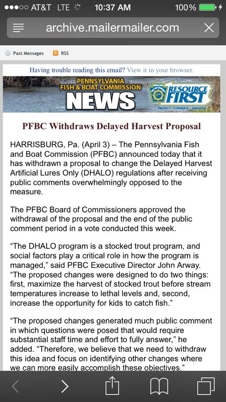 Pa Fish And Boat Delayed Harvest category