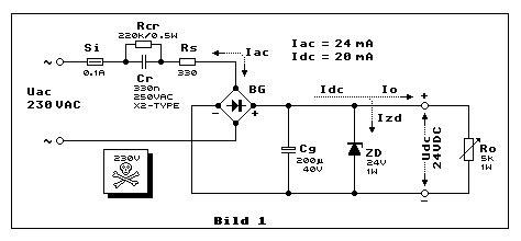 kondensatornetzteil kondensator netzteil kondensator