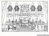 Coloring Temple Egypt Pages Colorkid Ancient Architecture sketch template