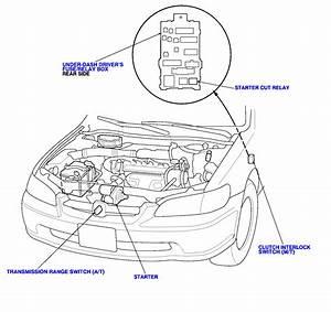 Honda Civic Starter Location