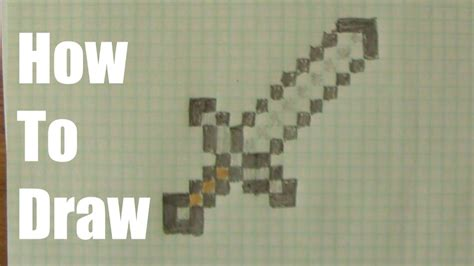 draw  minecraft sword youtube
