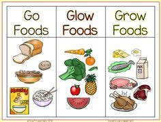 glow  grow foods sorting activity worksheet