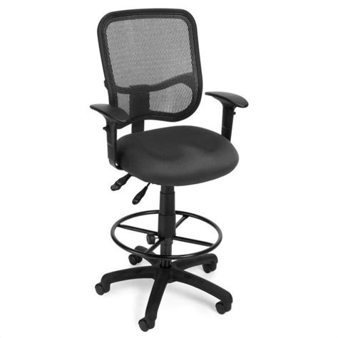 Drafting Chair With Arms by Ergonomic Task Drafting Chair With Arms Draft Kit In Gray