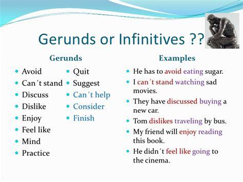 Gerunds And Infinitives After Certain Verbs