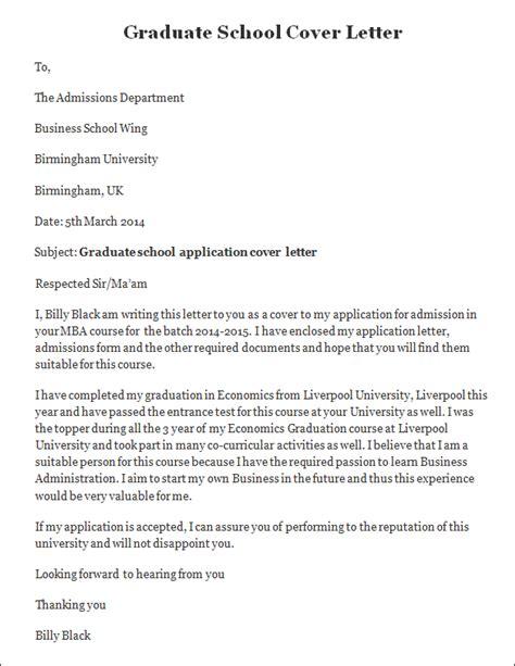 sample cover letter graduate school college essays
