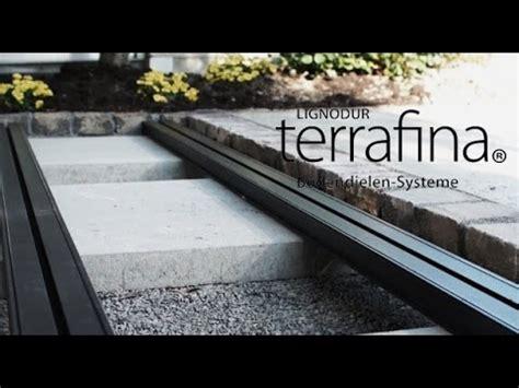 terrasse wpc unterkonstruktion verlegen einer terrafina terrasse wpc teil 1 unterkonstruktion