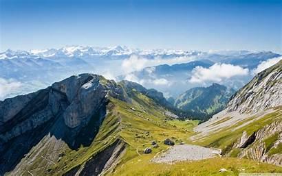 Mountain Range Panoramic Wide Desktop Background